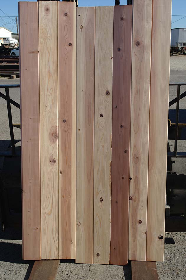 tongue and groove redwood fence